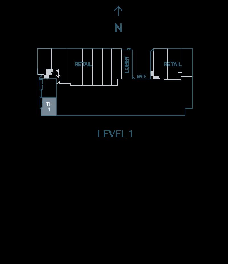 Plan Townhouse 1